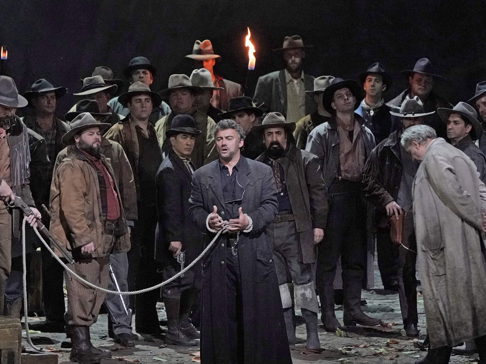 A scene from La Fanciulla del West